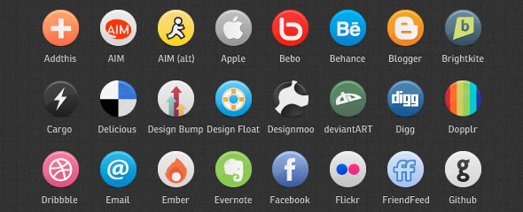 Buddycons – 126 social media icons in png and vector