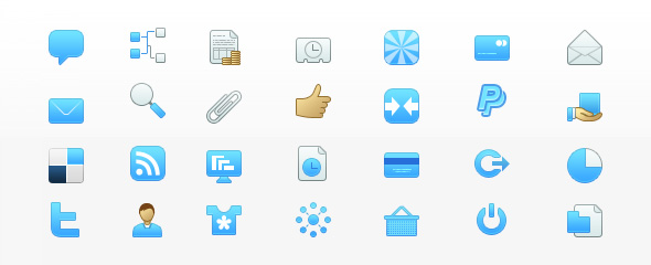 100 free blue icons for bloggers and web designers