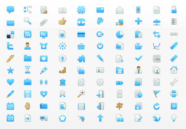 100 free blue icons for bloggers and web designers: www.artishock.net/graphics/icons/100-free-blue-icons-for-bloggers...