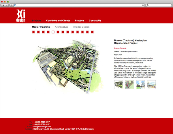 BCi Design - website projects page