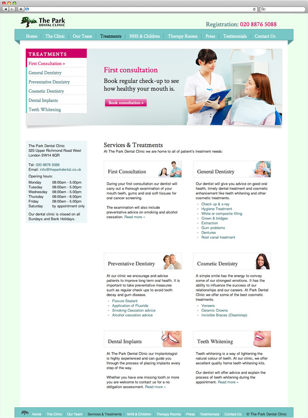 The Park Dental Clinic - First Consultation