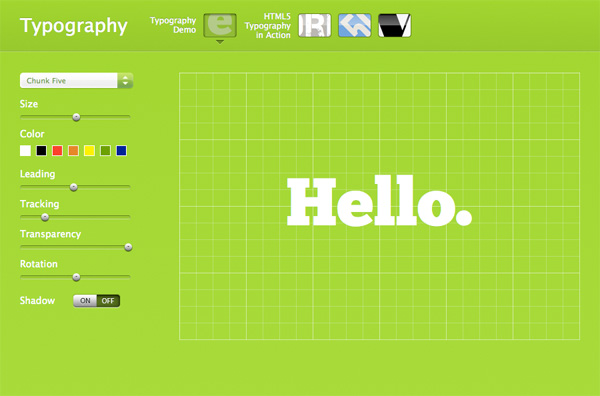 Apple HTML5 and CSS3 typography showcase page
