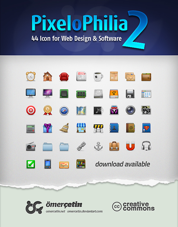 PixeloPhilia Icons for Web DEsign and Software