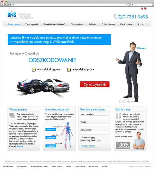 DNS Claims - website home page