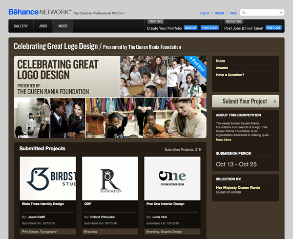 The Queen Rania Foundation Behance network competition